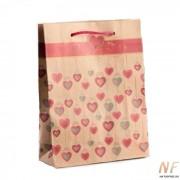 Крафт пакет Сердечки 5шт.