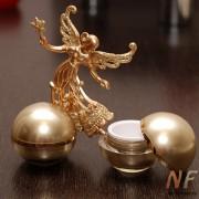 Баночка акриловая косметическая (золотой шар) 15 мл.